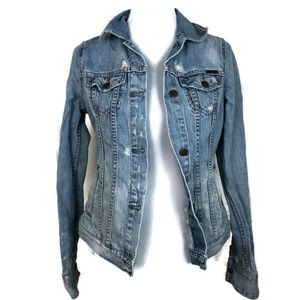 Ezra Fitch Denim Jean Distressed Jacket